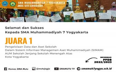 SMA Mutu Jogja Raih Juara I Pengelolaan Data dan Aset Sekolah Tingkat Kota Yogyakarta Tahun 2021